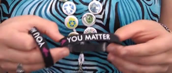 Blue, You Matter wristband